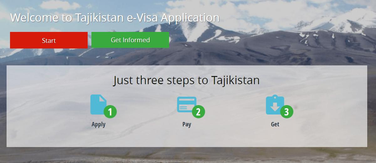Tadjikistan e-visa